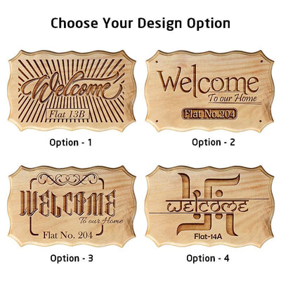 Wooden Address Signs for Home - Wooden Welcome Signs for Home - Personalized House Name Plaques by Woodgeek Store