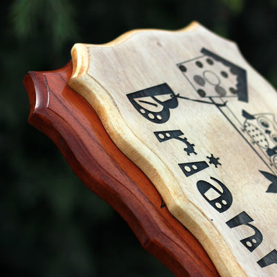 Unique Wood Sign - Engraved Wood Signs Personalized - Woodgeek Store