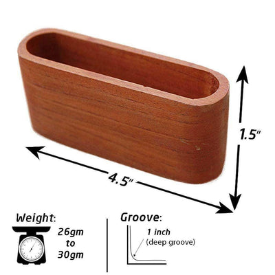 Wooden Business Card Holder For Desk - Set Of 2