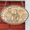 Congratulations! Wishing you an amazing life together, full of adventure, happiness, joy and laughter. This photo plaque makes one of the best wedding gifts. A personalized gift for wedding. Photo on wood. Wood Engraved Photo