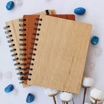 Wooden Notebook - Wooden Diary - Woodgeek Store