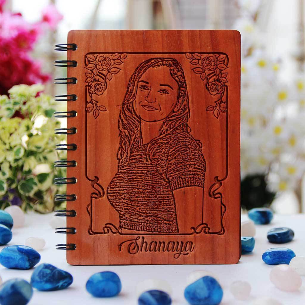 Personalised Diary With Photo. Photo Notebook & Personalised Photo Diary. Personalised Notebook With Name. This Custom Notebook Makes A Unique Gift. Looking For Photo Gifts ? Shop More Customized Photo Gifts Online From The Woodgeek Store