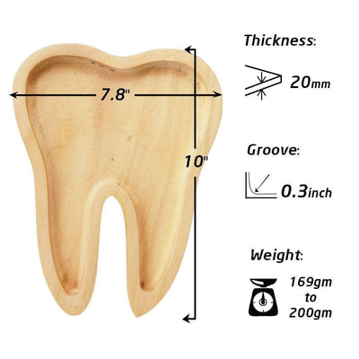 Specifications For Wooden Tray In The Shape Of A Tooth