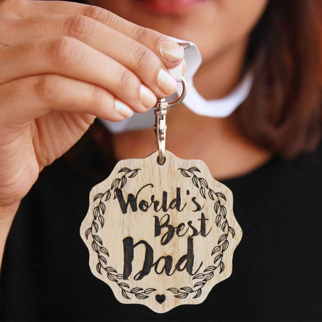 World's Best Dad Engraved Medal. It Is The Best Birthday Gift For Dad Or Father's Day Gift. Buy More Customised Gifts For Parents From The Woodgeek Store.