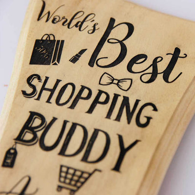 World's Best Shopping Buddy Trophy & Award. These Custom Trophies are The Best Gift For Sisters and close friends and for those you love going Shopping with.