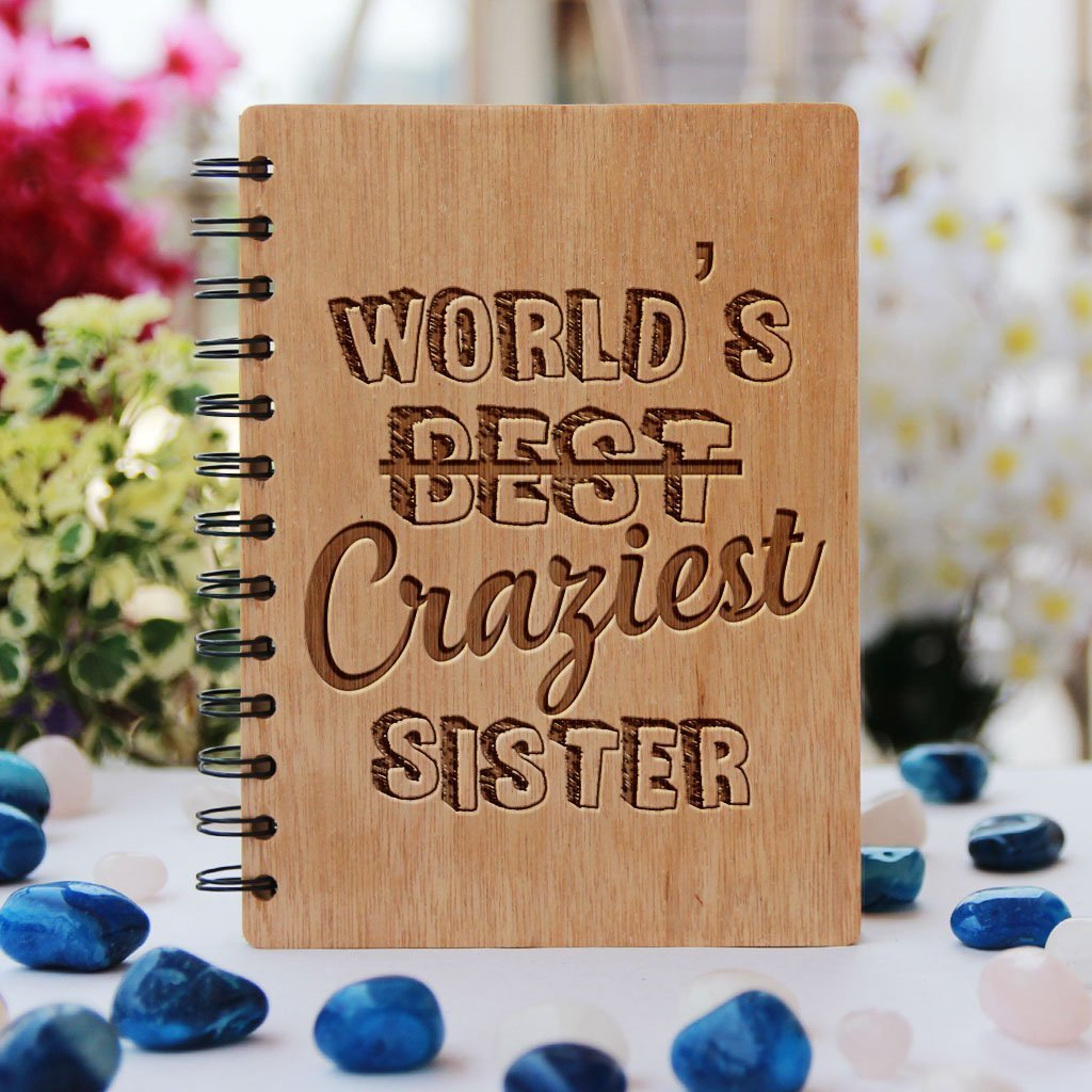 Best gifts for sisters - Unique sister gifts - Rakhi Gifts - Big Sister Gifts - fun gibest gift for sister - birthday gifts for sister - Notebook for Sister - Personalized Notebook - Wooden Notebook - Woodgeek Store