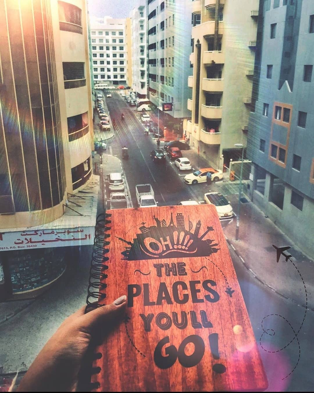 Oh! The places you'll go - Personalized Wooden Notebook
