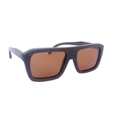 Men's Wooden Sunglasses - Rectangular Sunglasses With Wood Frames by Woodgeek Store
