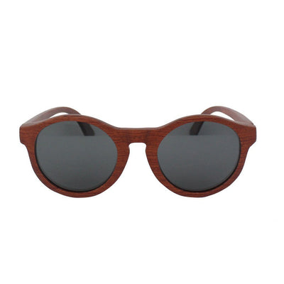 SUNGLASSES - The Hipster - Rosewood Round Sunglasses