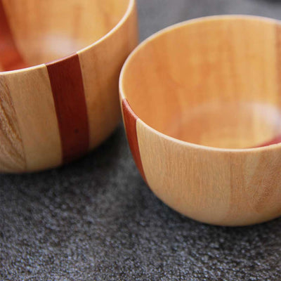 wooden bowls closeup made from birch wood by woodgeek store