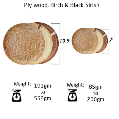 wooden dinner plate and side plate measurements by woodgeekstore