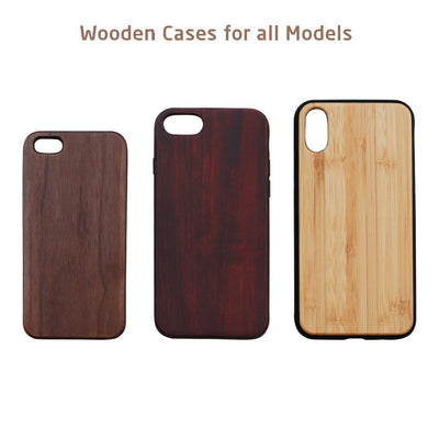 Logo Engraved Wooden Phone Case