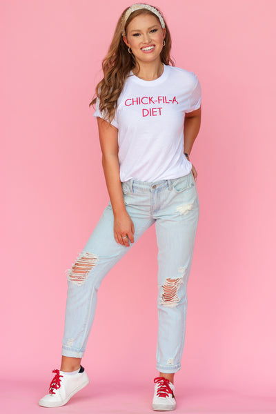 You're a Doll Distressed Boyfriend Jeans