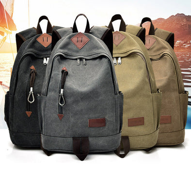 Canvas Backpack  Laptop Bag
