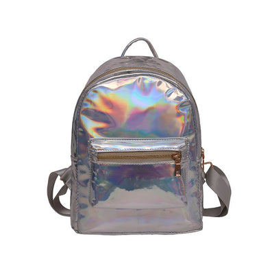 Girls  simple Leather Backpack