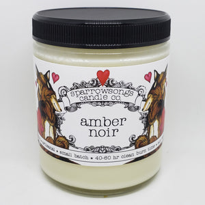Amber Noir Valentine's Day candle