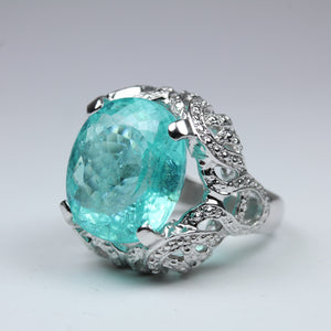 Tresors Original: An Exquisite Paraiba Tourmaline Cocktail Ring