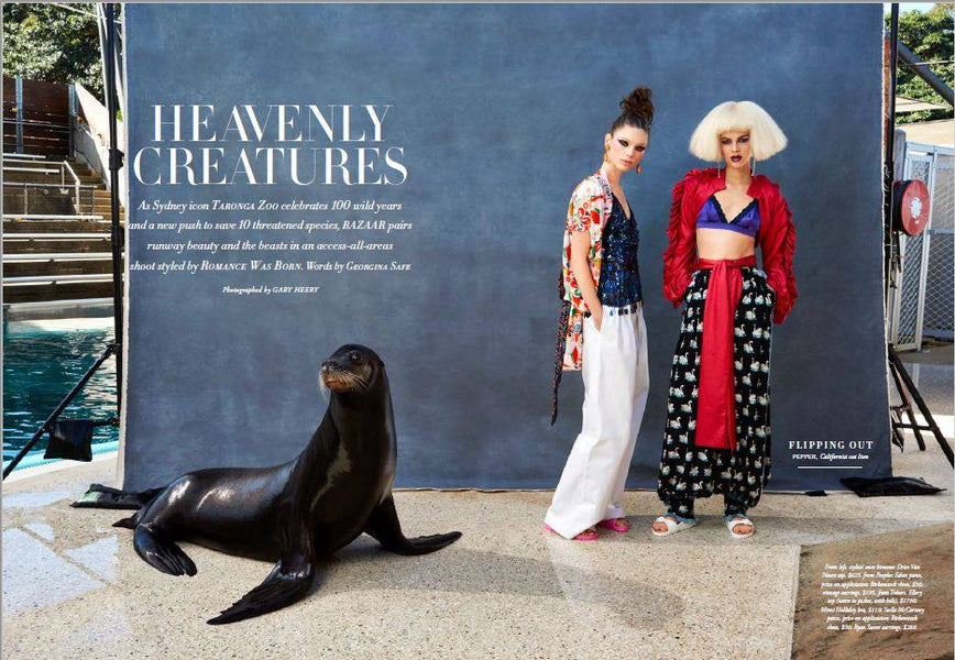 HARPER'S BAZAAR - Heavenly Creatures featuring Tresors