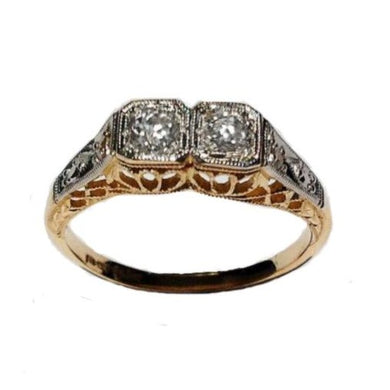 Antique 18ct Rose Gold Twin Diamond Ring