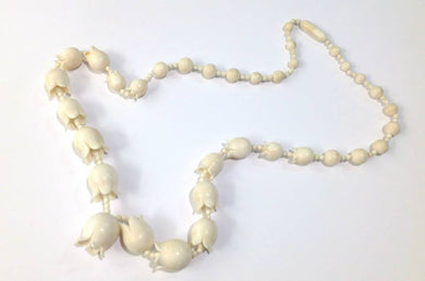 Ivory Carved Flower Necklace