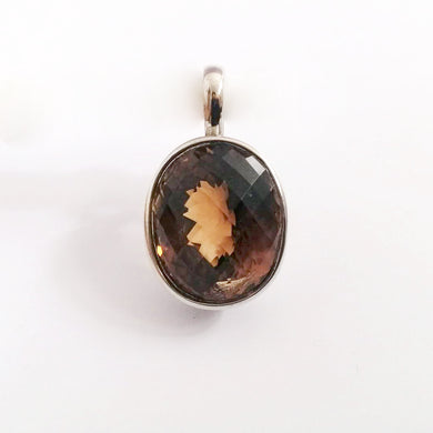 9ct White Gold 40.47ct Imperial Topaz Pendant