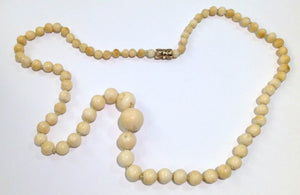 Antique Ivory Graduated Necklace