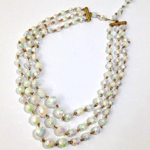 Aurora Borealis 3 Strand Necklace