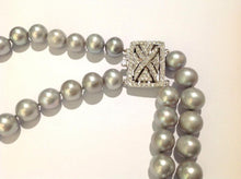 Double Strand Grey Rice Cultured Pearl Deco Necklace