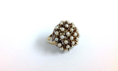 Vintage Cultured Pearl Dome Ring