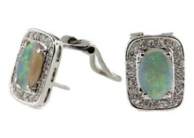 14ct Opal and Diamond Studs