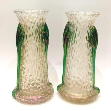 Art Nouveau Loetz Glass Vases
