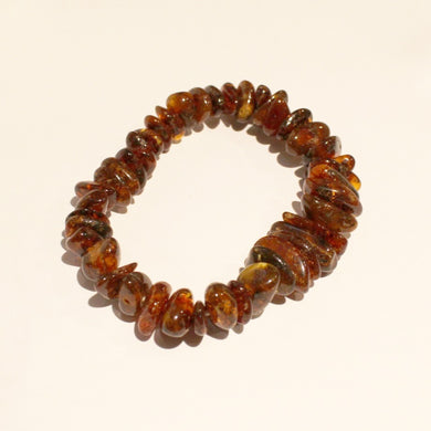 Antique Baltic Cognac Amber Graduated Beaded Bracelet
