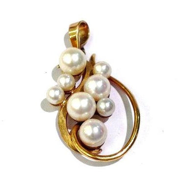 Antique 9ct Yellow Gold Cultured Pearl Pendant