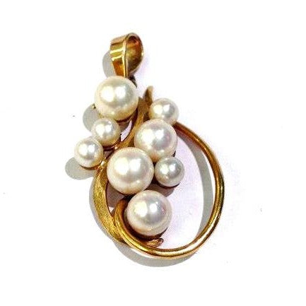 9ct Yellow Gold Cultured Pearl Pendant
