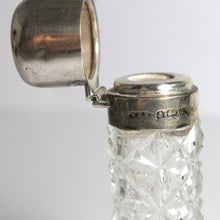 Antique Sterling Silver Lead Crystal Perfume Flask