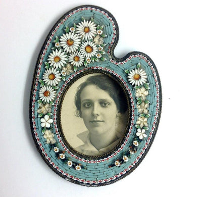 Micro Mosaic Photo Frame with Daisies