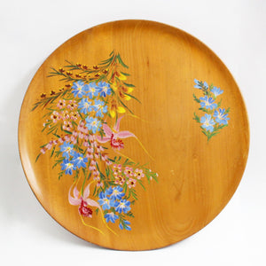 """Wildflowers"" Huon Pine Wall Plate"
