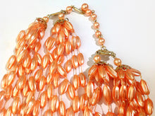 Apricot Cream Layered Costume Necklace