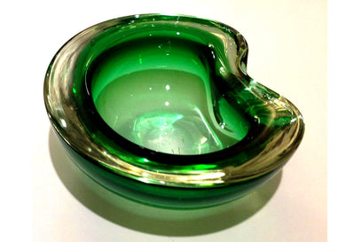 Green Murano Glass Ashtray
