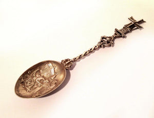 Silver Decorative Spoon, Windmill Shaped Handle