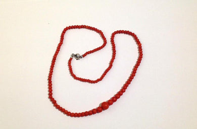 Vintage Red Coral Nautral Strand