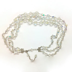 Borealis Crystal 3 strand graduated necklace