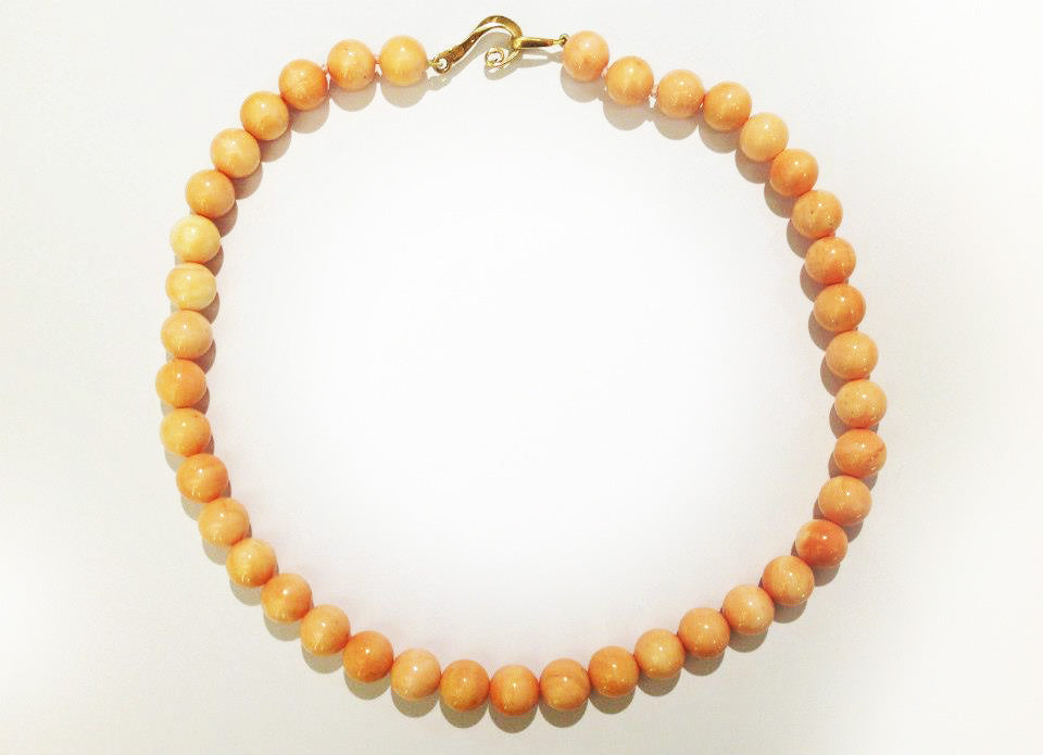 Conch Shell Bead Necklace