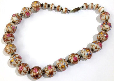 Vintage 'Wedding Cake' Bead Murano Glass Necklace