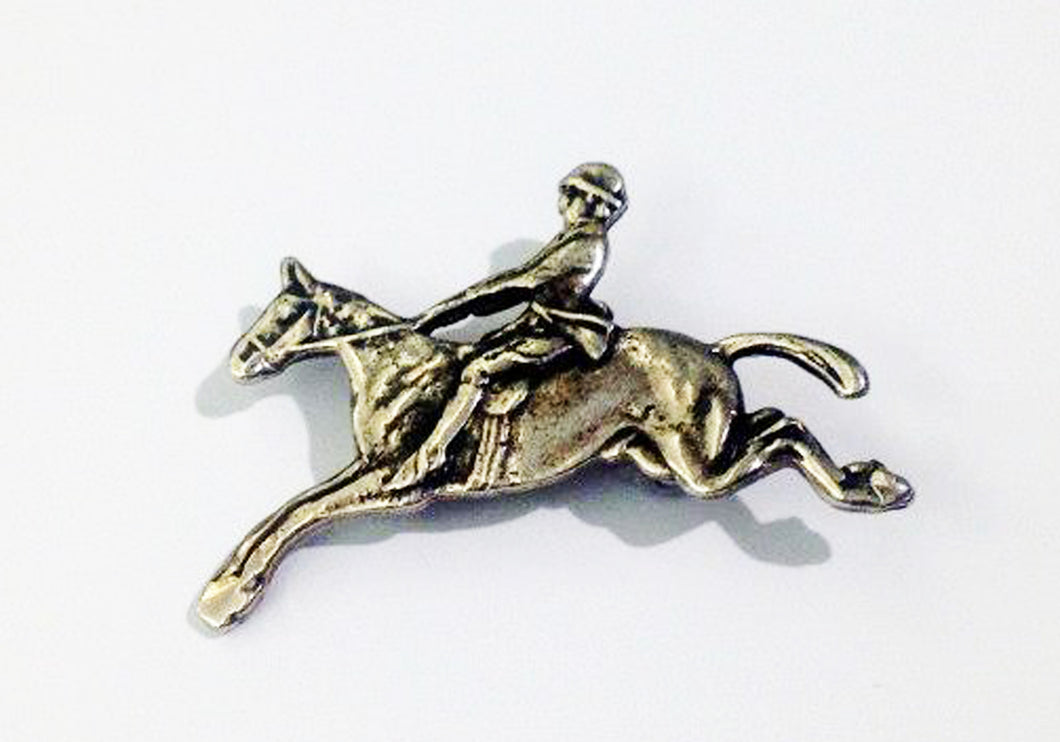 Sterling Silver Racing Brooch