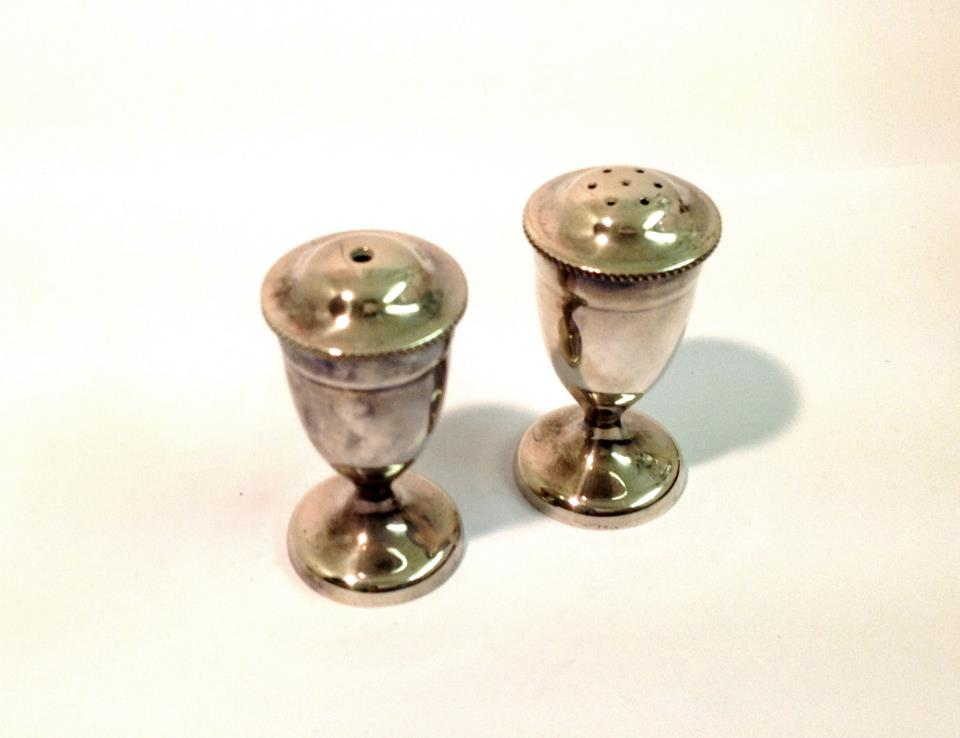 Silver Plated Salt and Pepper Shakers