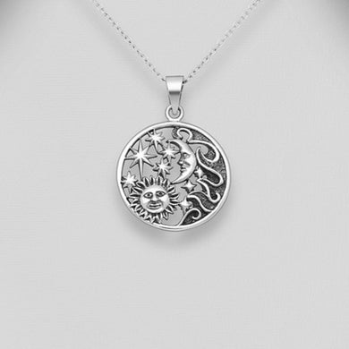 Sterling Silver Astronomy Pendant