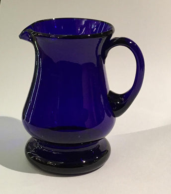 Vintage Webb Blue Cobalt Blue Glass Milk Jug