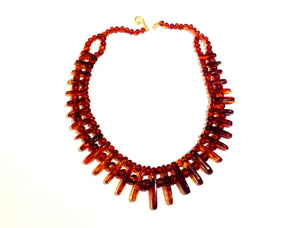 Natural Amber Bib Necklace