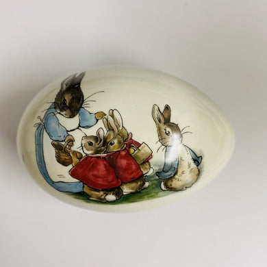 Vintage 'Beatrix Potter' Peter Rabbit Porcelain Egg Box